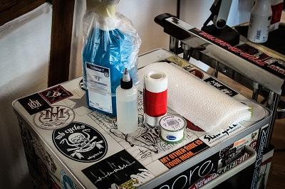 Tattoo Pflege Studio Desinfektion